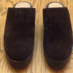 Chanel Suede Mules / Clogs in Brown